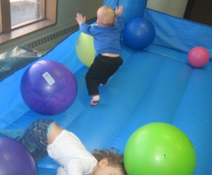 Bouncy house ball mayhem