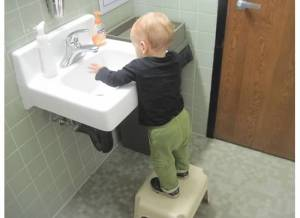 Big enough to reach some sinks with a stool!