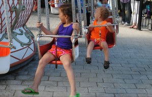 These were very fast!  They both LOVED it and went on it two  more times, willing to stand in line.