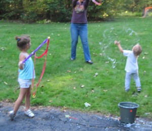 Making giant bubbles!